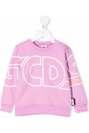 GCDS Logo-print cotton sweatshrit