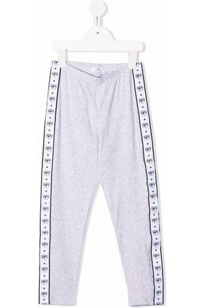 Chiara Ferragni Kids Logo track trousers - Grey