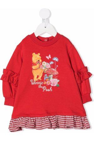 Monnalisa Graphic-print sweater dress