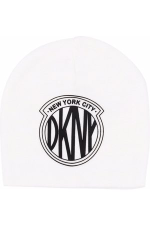 DKNY Girls Hats - Logo-patch knitted hat - Neutrals