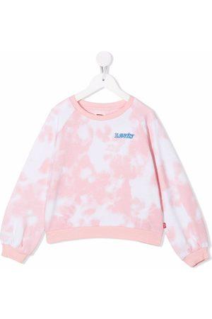 Levi's Kids Tie dye-print crew neck sweatshirt - A2O STAMPA