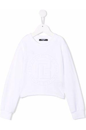 Balmain Kids Embossed logo sweatshirt
