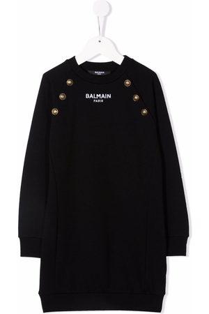 Balmain Kids Long-sleeve knitted dress