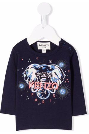 Kenzo Kids Elephant-print cotton sweatshirt