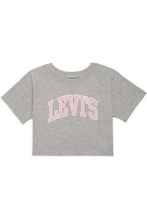 Levi's Girls Crop Tops - Little Girl's Logo Graphic Crop T-Shirt