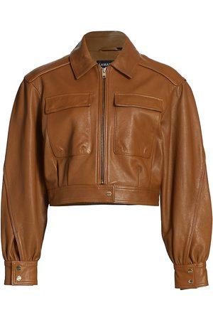 LAMARQUE Women Leather Jackets - Arnelle Leather Bomber Jacket