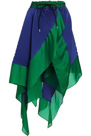 SACAI Asymmetrical Satin Midi-Skirt