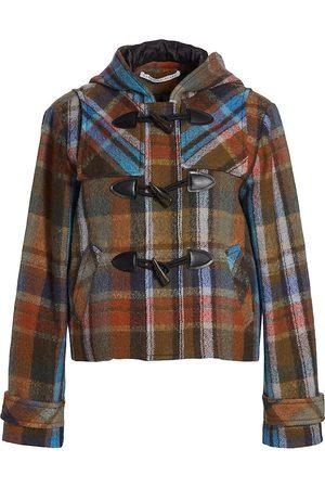 Veronica Beard Ianna Plaid Duffle Coat
