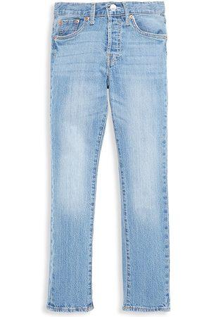 Levi's Girli's 501 Distressed Skinny Jeans