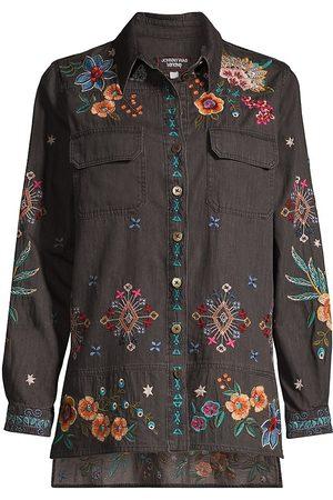 JOHNNY WAS Francisca Denim Shirt Jacket
