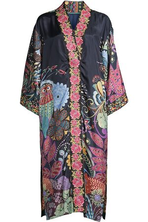 JOHNNY WAS Dalamo Floral Silk Reversible Robe