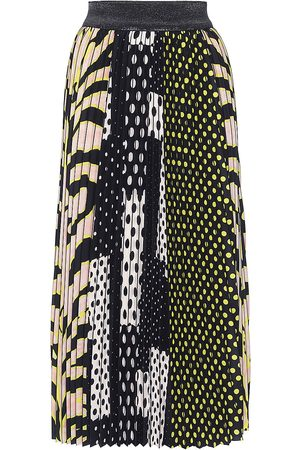 Le Superbe All Sports Patchwork Pleated Skirt