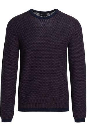 Emporio Armani Contrast Collar Woven Sweater