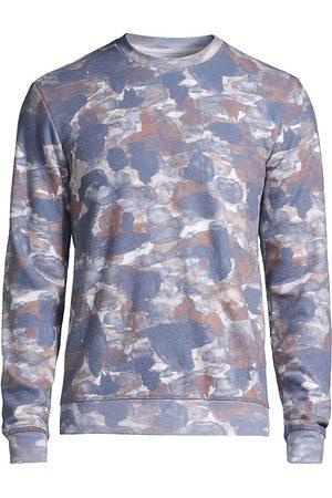 Sol Angeles Men Denim - Watercolor Camo-Print Sweatshirt