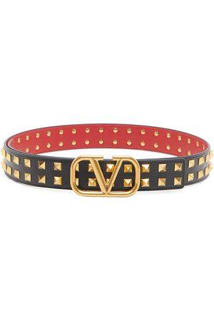 VALENTINO GARAVANI VLogo Studded Leather Belt
