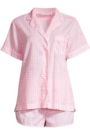 Roller Rabbit Gingham Shirt & Shorts Set