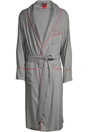 ISAIA Men Bathrobes - Piped Pima Cotton Robe