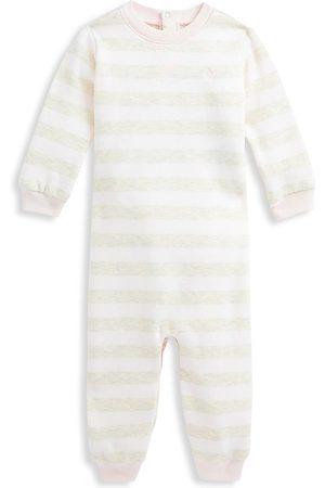 Ralph Lauren Baby Girl's Striped Fleece Coveralls