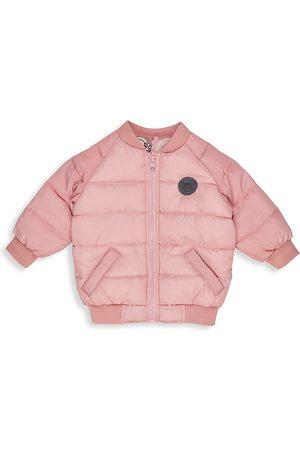 Huxbaby Little Girl's Daisy Rainbow Reversible Bomber Jacket