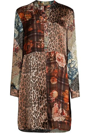 JOHNNY WAS Mabel Patterned Silk Tunic Dress