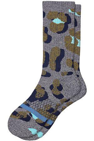 BOMBAS Offset Leopard Calf Socks
