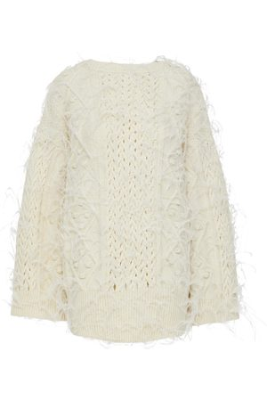 VALENTINO Dyed Ostrich-Embellished Sweater