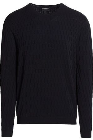 Emporio Armani Men Sweatshirts - Toggle Stitch Solid Knit Sweater