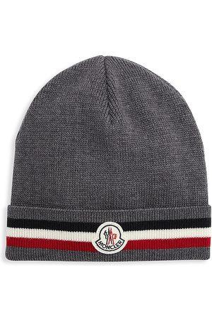 Moncler Men Beanies - Bell Logo Beanie Hat
