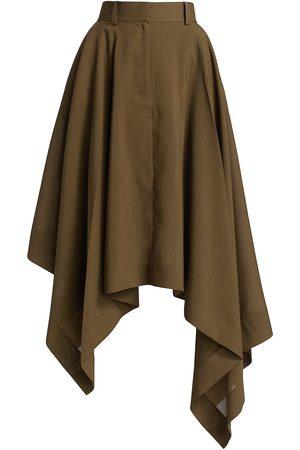 SACAI Asymmetrical Suiting Midi-Skirt