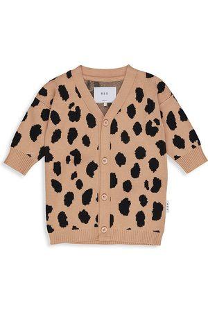 Huxbaby Little Girl's & Girl's Animal Intarsia Knit Cardigan