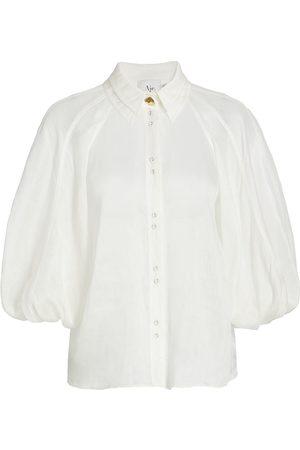 AJE Women Sports T-shirts - Palms Puff-Sleeve Shirt
