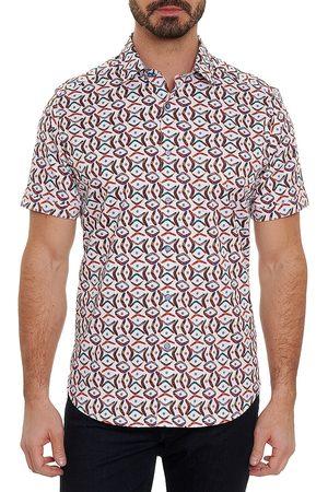 Robert Graham Emilio Boomerang-Print Short-Sleeve Shirt