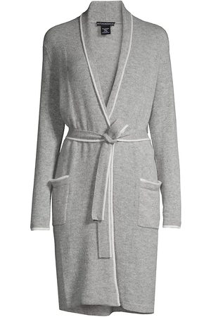 Sofia Cashmere Cashmere Piped Belted Robe