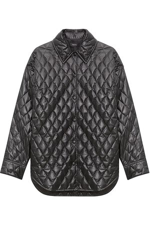 THEORY Quilted Vegan Leather Jacket