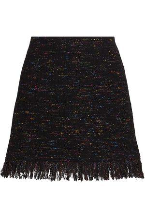 Ganni Rainbow Tweed Skirt
