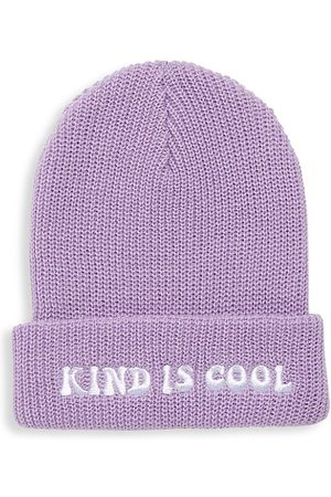 """Tiny Whales Girl's """"Kind Is Cool"""" Beanie Hat"""
