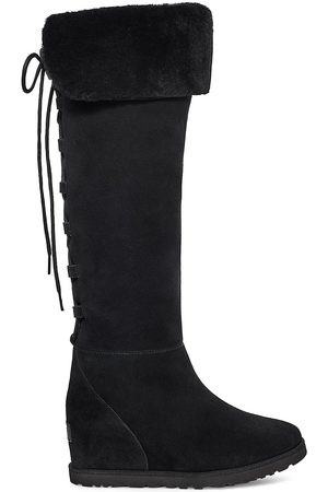 UGG Women Lace-up Boots - Classic Femme Over-The-Knee Lace-Up Suede Boots