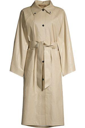 Kassl Women Rainwear - Below Oil Belted Kimono Coat