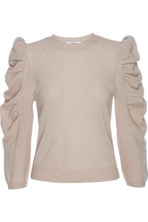 Frame Women Denim - Cashmere-Wool Shirred Sleeve Sweater