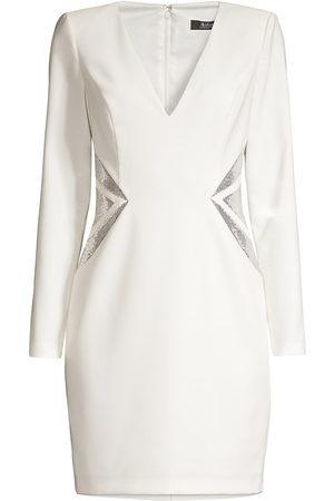 Aidan Mattox Sequin-Detailed Sheath Dress