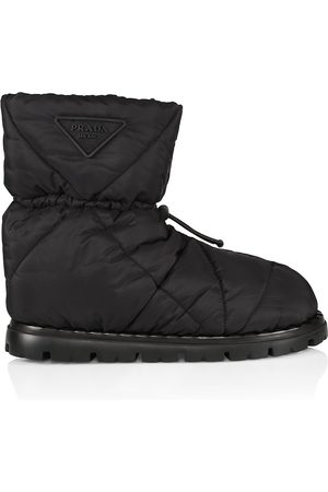 Prada Women Boots - Logo Quilted Boots