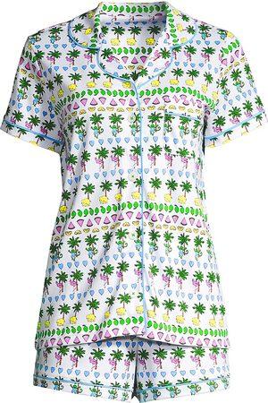 Roller Rabbit Printed Shirt & Shorts Set