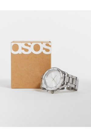 ASOS Bracelet watch with gothic numbers in tone
