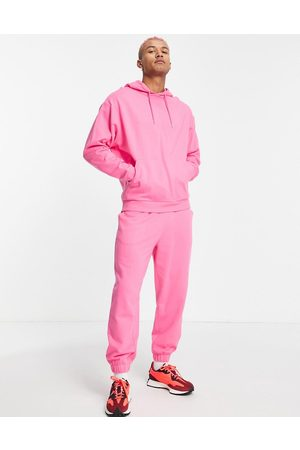 ASOS DESIGN Men Sports Hoodies - Organic tracksuit with oversized hoodie and oversized sweatpants in