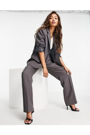 ASOS Menswear-inspired suit blazer in charcoal-Grey