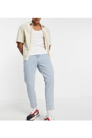Reclaimed Vintage Inspired '89 tapered cropped jean in light stone wash-Blues