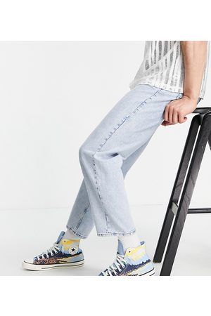Reclaimed Inspired 90's straight jean in authentic blue wash-Blues