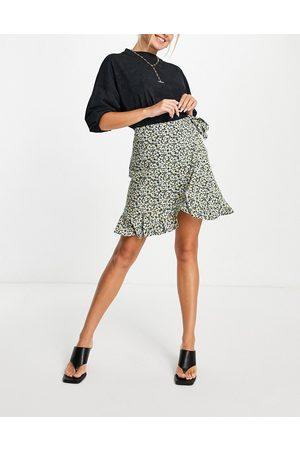 Envii Women Printed Skirts - Rosanna mini skirt in multicoloured ditsy print