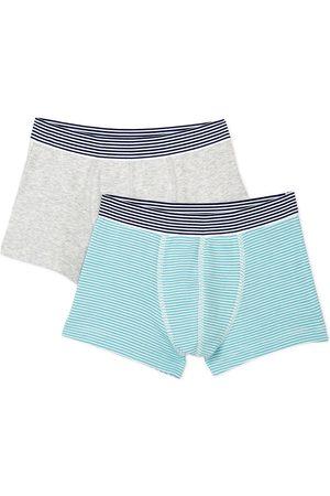 Petit Bateau 2-Pack Blue Stripe Boxers - 3 years - Grey - Boxers