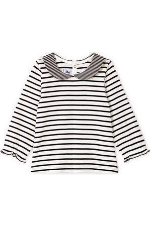 Petit Bateau Striped Collared T-Shirt - 3 months - - Blouses